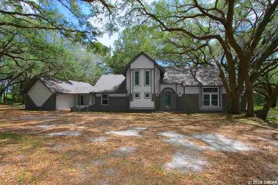 Newberry Single Family Home For Sale: 16018 SW 15th Avenue