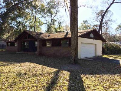 Gainesville FL Single Family Home For Sale: $131,500