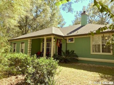 Newberry Single Family Home For Sale: 3923 SW 180th Street