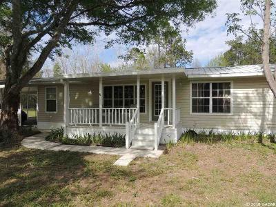 Williston FL Single Family Home For Sale: $85,000