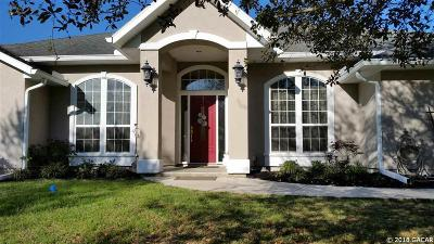 Alachua Single Family Home For Sale: 9482 NW 136th Drive