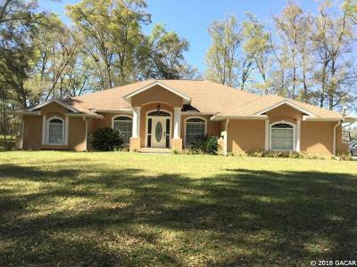 High Springs Single Family Home For Sale: 21808 NW County Road 236