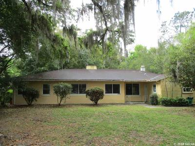 Gainesville FL Single Family Home For Sale: $237,500