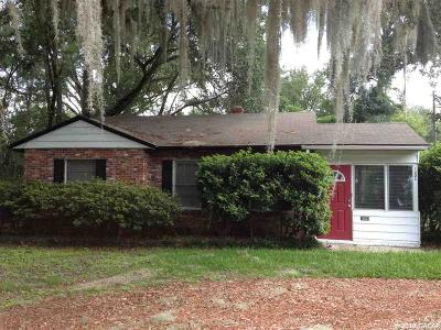 Gainesville FL Single Family Home For Sale: $135,000