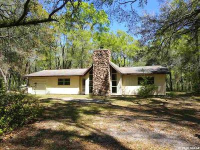 Chiefland Single Family Home For Sale: 9051 NW 124th Street