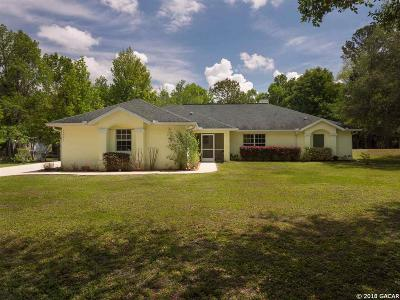 Micanopy Single Family Home For Sale: 10927 SW 10th Terrace