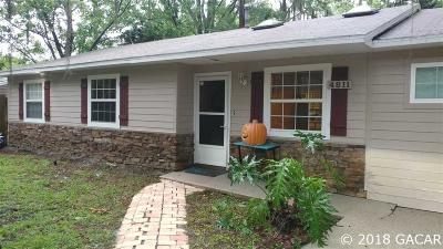 Gainesville FL Single Family Home For Sale: $149,000
