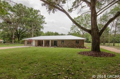 Alachua Single Family Home For Sale: 8919 NW County Road 235