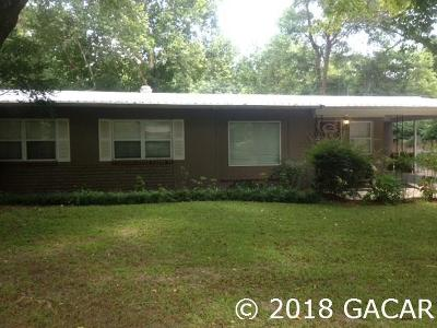 Gainesville FL Single Family Home For Sale: $174,000