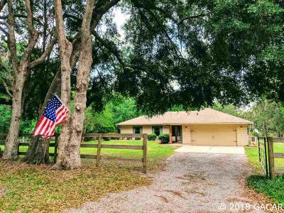 Micanopy Single Family Home For Sale: 19967 NW 105TH Avenue