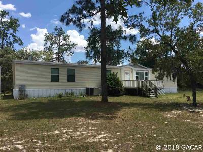 Williston FL Single Family Home For Sale: $139,900
