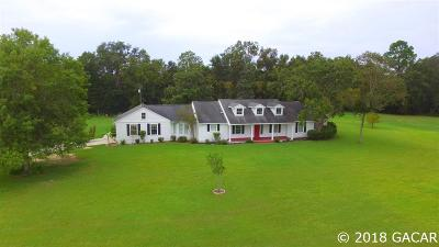 High Springs Single Family Home For Sale: 23016 NW 202nd Street