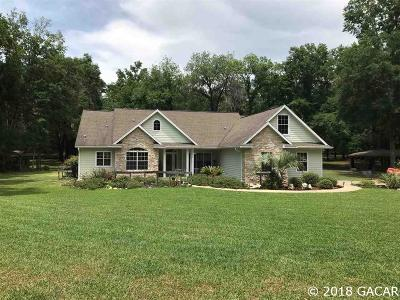 High Springs Single Family Home For Sale: 25970 NW 166TH Avenue