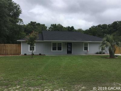 Newberry Single Family Home For Sale: 26718 NW 3 Avenue