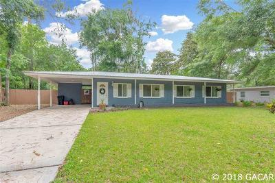Gainesville Single Family Home For Sale: 1906 NW 36th Terrace