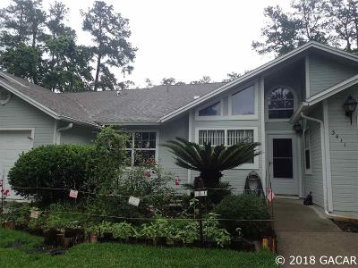 Gainesville Condo/Townhouse For Sale: 3411 NW 103 Drive
