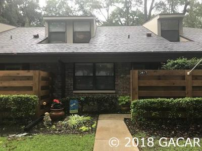 Gainesville Condo/Townhouse For Sale: 3417 NW 53 Terrace