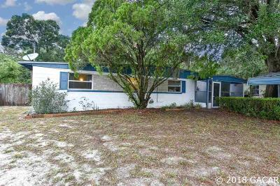 Gainesville FL Single Family Home For Sale: $99,900