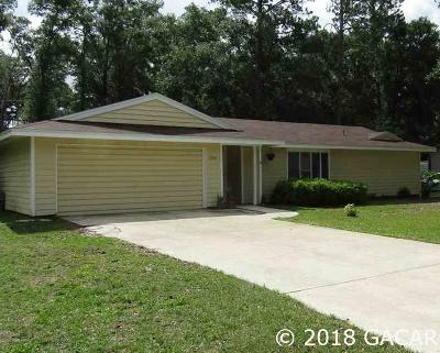 Gainesville FL Single Family Home For Sale: $216,000