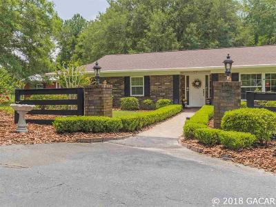 Gainesville Single Family Home For Sale: 12545 Millhopper Road