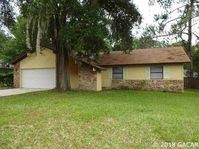 Gainesville Single Family Home For Sale: 3721 NW 108th Court
