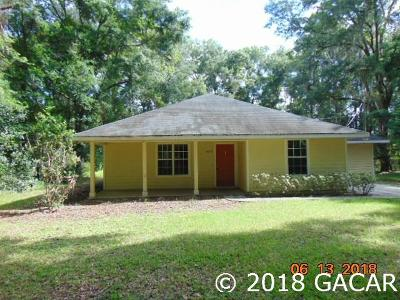 Newberry Single Family Home For Sale: 14218 SW 12 Place
