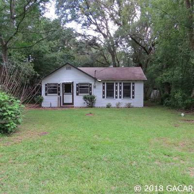 Gainesville FL Single Family Home For Sale: $98,000