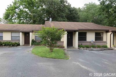 Gainesville Condo/Townhouse For Sale: 3514 NW 21ST Drive