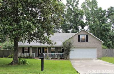 Alachua Single Family Home For Sale: 7510 NW 126TH Avenue