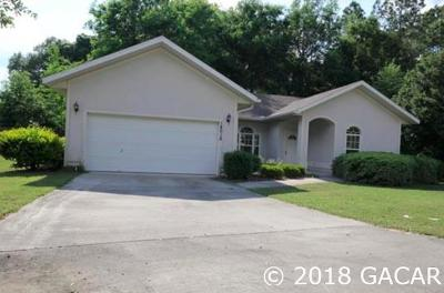 Newberry Single Family Home For Sale: 14018 NW 10TH Road