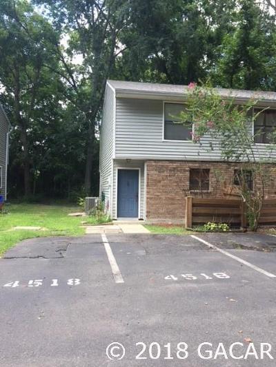 Gainesville Condo/Townhouse For Sale: 4518 SW 44 Lane