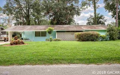 Gainesville Single Family Home For Sale: 1019 NW 36TH Road