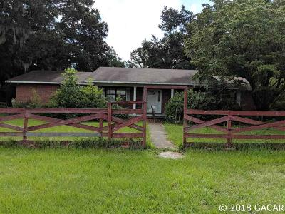 Alachua Single Family Home For Sale: 8311 NW 170TH Street