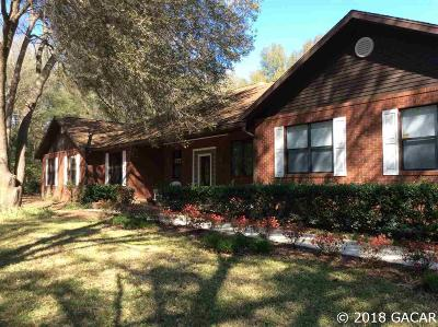 Newberry Single Family Home For Sale: 18330 SW 42nd Lane