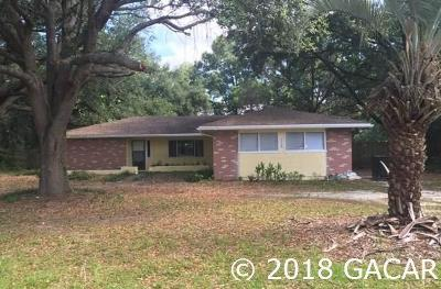 Gainesville Single Family Home For Sale: 7724 SW 70th Avenue