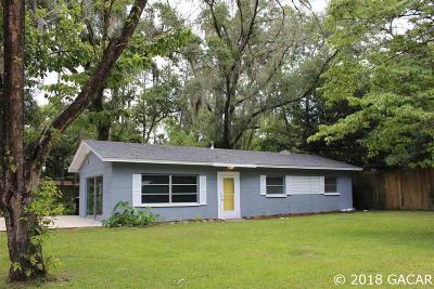 Gainesville Single Family Home For Sale: 4113 NW 20TH Terrace