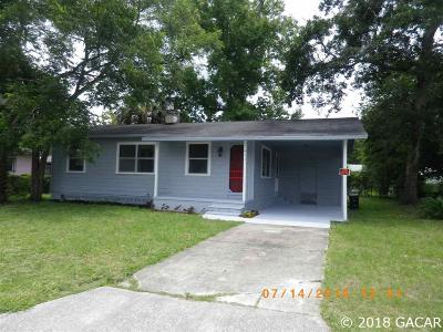 Gainesville FL Single Family Home For Sale: $85,000