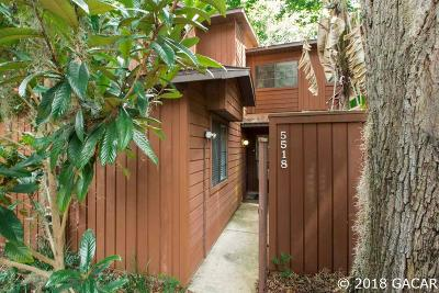Gainesville Condo/Townhouse For Sale: 5518 SW 8TH Place