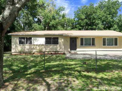 Gainesville FL Single Family Home For Sale: $117,500