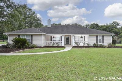 High Springs Single Family Home For Sale: 24235 NW 160TH Avenue