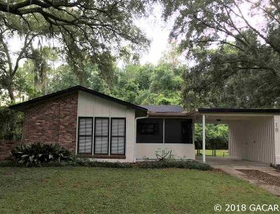 Gainesville FL Single Family Home For Sale: $154,500