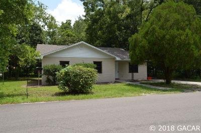 Gainesville FL Single Family Home For Sale: $80,000