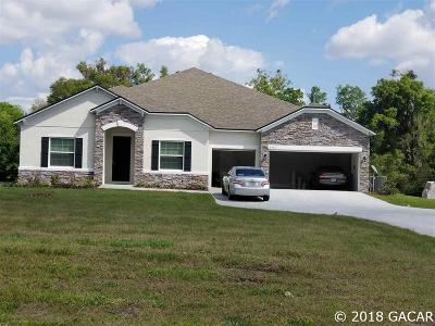 Newberry Single Family Home For Sale: 5933 SW 215th Terrace