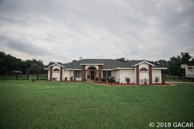 Citra Single Family Home For Sale: 13676 NE Jacksonville Road