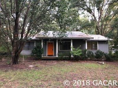 Newberry Single Family Home For Sale: 24603 NW 32ND Avenue