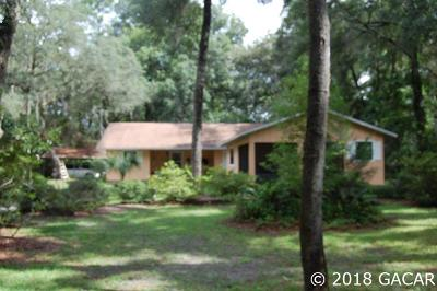 Chiefland Single Family Home For Sale: 8891 NW 111th Lane