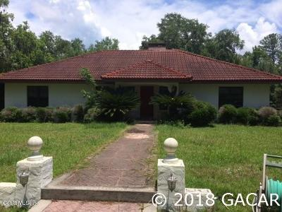 Micanopy Single Family Home For Sale: 17714 Veterans Way