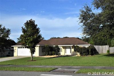 High Springs Single Family Home For Sale: 19537 NW 230th Street