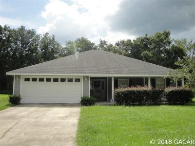 Alachua Single Family Home For Sale: 16658 NW 175TH Terrace