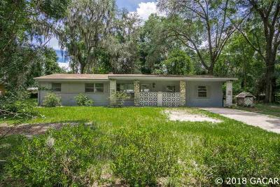 Gainesville FL Single Family Home For Sale: $106,500